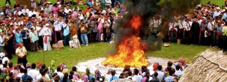 Maya Ceremony at Tikal - Flores, Guatemala