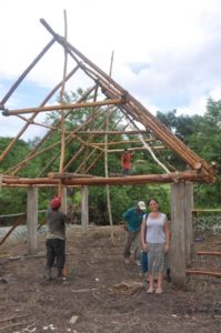 Kristina Baines at the site of her future home in Santa Cruz, Belize