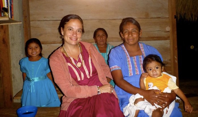 Kristina Baines in the Maya community of Santa Cruz, Belize